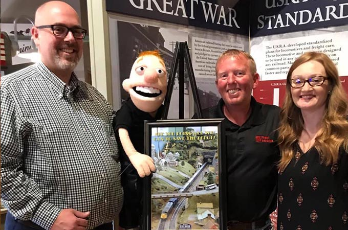 David Hosay from Sublime Media Group in photo with Trent Ranburger, Lil Trent, and Jamie Johnson at the Railpark