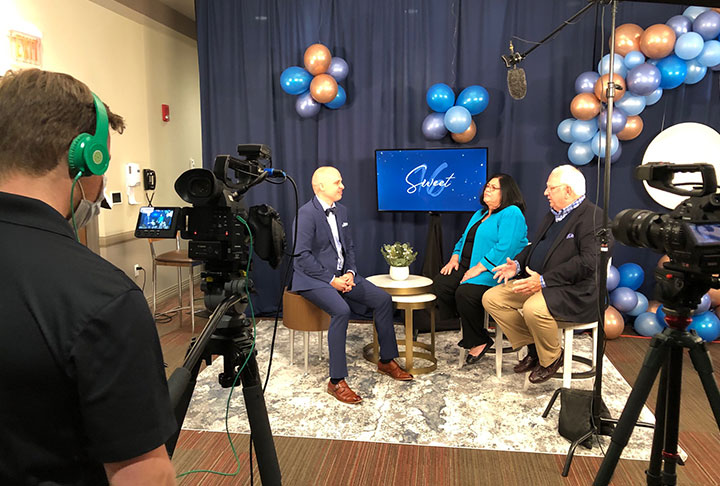 Stephen Stucey hosting 2020 Virtual Charity Ball interviewing Mike and Mickeye Murphy from Murphy Construction Group.
