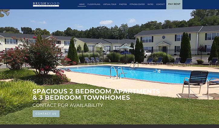 Brushwood Apartment homepage website example